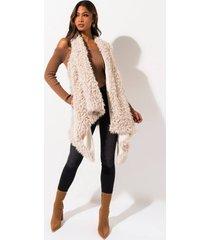 akira fuzzy fleece lined vest