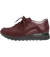 skor för breda fötter waldläufer bordeaux