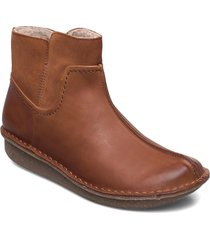 funny mid shoes boots ankle boots ankle boot - flat brun clarks
