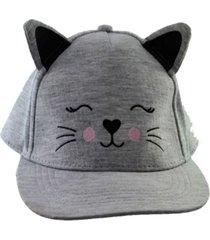 gorra gris licences group gatito funny store