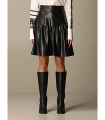 ermanno scervino skirt ermanno scervino skirt in synthetic leather
