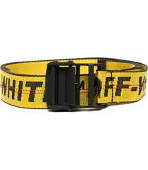off-white logo-tape adjustable-fit belt - yellow