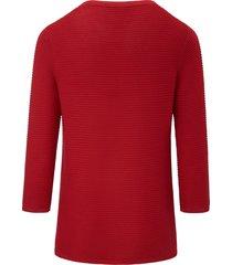 trui met 3/4-mouwen van peter hahn rood