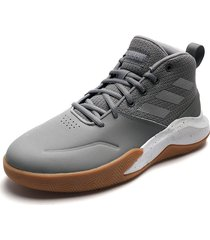tenis basketball gris-blanco adidas performance ownthegame