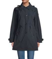woolrich women's charlotte removable hood coat - black - size s