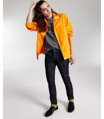 ax armani exchange men's logo-print shirt jacket, created for macy's