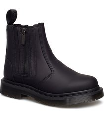 2976 alyson w/zips black snowplow wp shoes chelsea boots ankle boots ankle boot - flat svart dr. martens