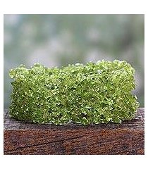 peridot stretch bracelet, 'spring breeze' (india)