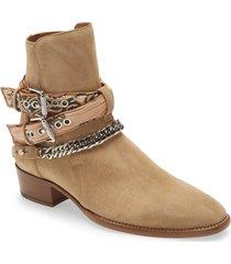 men's amiri bandana strap ankle boot, size 7us - beige