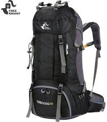 escalada mochila con cubierta de iluvia 60l - negro