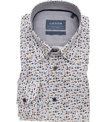 ledub overhemd mouwlengte 7  modern fit print