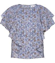 centasz ss blouse blouses short-sleeved blå saint tropez