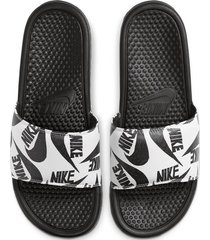 10-sandalias de hombre nike benassi jdi print-negro