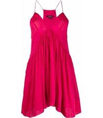 isabel marant v-neck sleeveless mini dress