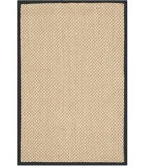 safavieh natural fiber maize and black 2' x 3' sisal weave area rug