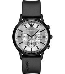 renato rubber-strap chronograph watch