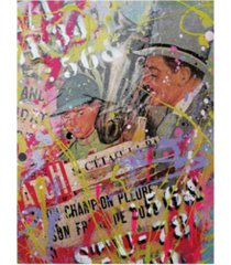 "david drioton top hat graffiti canvas art - 15.5"" x 21"""