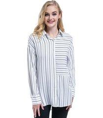 blusa oversize rayas blanco negro nicopoly