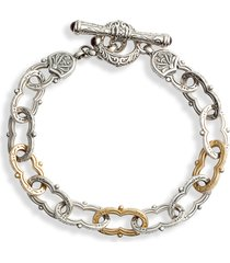 women's konstantino kleos two-tone chain link toggle bracelet