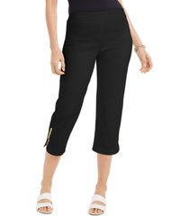 jm collection embellished-cuff capri pants, created for macy's