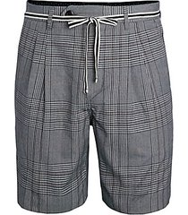 tailo belted plaid shorts