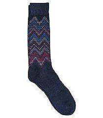 jos. a. bank comfort luxe zigzag stripe socks, 1-pair