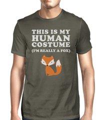 this is my human costume fox mens dark grey shirt