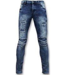 skinny jeans true rise broeken met scheuren - biker jeans skinny -