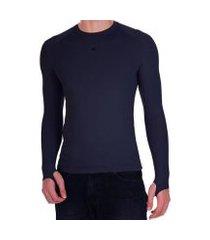 camiseta segunda pele 2mt - azul marinho