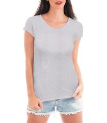 camiseta criativa urbana blusa t-shirt lisa - feminino