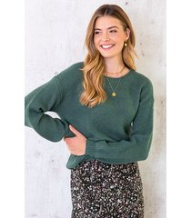 trui gebreid dames groen