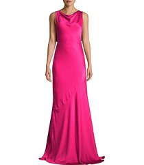 ami cowlneck sleeveless a-line gown