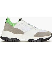 jim rickey trekk run - mesh / suede / leather sneakers white