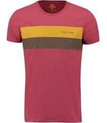 camiseta salt 35g faixa mostarda masculina