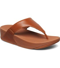 lulu leather toepost shoes summer shoes flat sandals brun fitflop