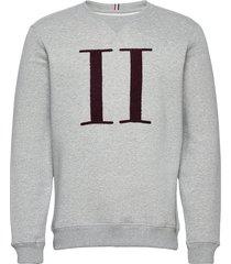 encore bouclé sweatshirt sweat-shirt tröja grå les deux