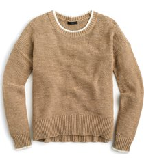 women's j.crew tipped beach sweater, size x-large - beige