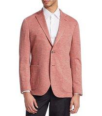 collection melange knit blazer