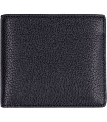 leather flap-over wallet