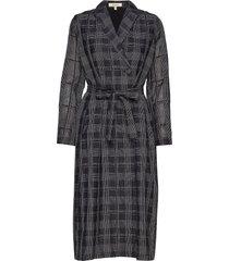 ana dress geometric knälång klänning svart whyred