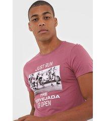 camiseta sergio k foto rosa - kanui