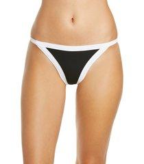women's l space vacay bikini bottoms, size large - black