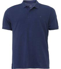 camisa polo forum reta lisa azul-marinho