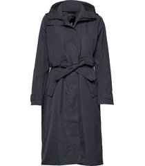 lova wns coat 2 trenchcoat lange jas blauw didriksons