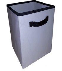 caixa organizadora de 28x30x28 bege palha com alça