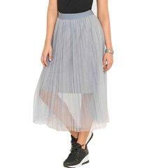falda leidy gris para mujer croydon