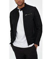 selected homme slh c-01 classic suede jacket w jackor svart