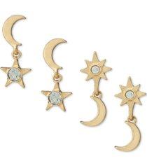 rachel rachel roy gold-tone 2-pc. set crystal celestial drop earrings
