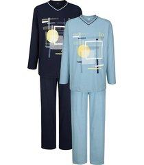 pyjama's per 2 stuks g gregory marine::lichtblauw