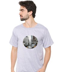 camiseta sandro clothing metropolitan cinza - cinza - masculino - dafiti